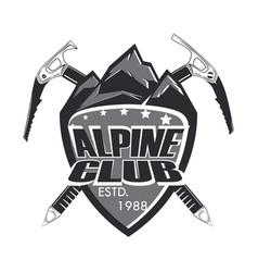 alpine club badge vector image vector image
