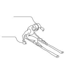 Alpine skiing winter sport extreme vector