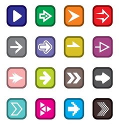 Arrow icons3 vector image vector image