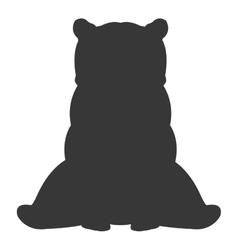 bear silhouette icon vector image