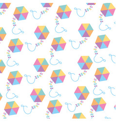 Beautiful kite flying pattern background vector