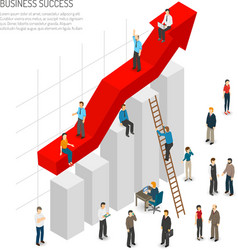 Business success people poster vector