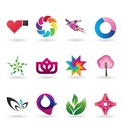 Colorful collection of corporate identity elements vector image vector image