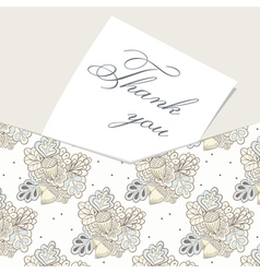 Envelope card with hand drawn oak pattern vector
