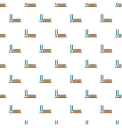 Factory building pattern seamless vector