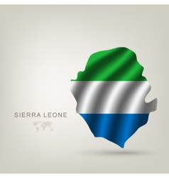 Flag sierra leone a country vector