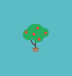 flat icon fruit tree element vector image vector image
