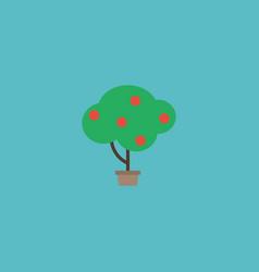 Flat icon fruit tree element vector
