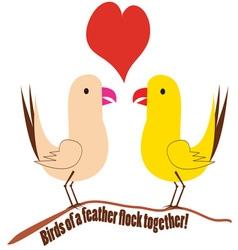 Flock together vector