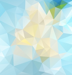 icy blue abstract polygon triangular pattern vector image vector image