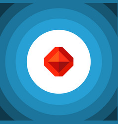 Isolated treasure flat icon jewel element vector
