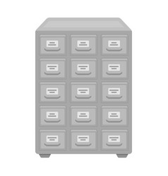 library catalog icon in monochrome style isolated vector image