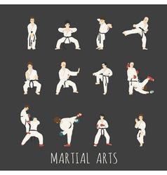 Martial arts eps10 format vector
