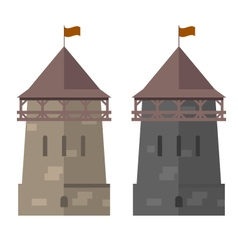 Medieval tower of fortified wall - stronghold vector image