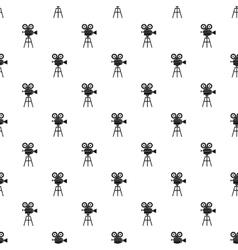 Retro cinema camera pattern simple style vector