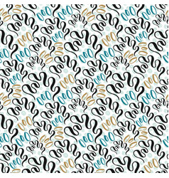 Seashell seamless pattern fashion texture vector