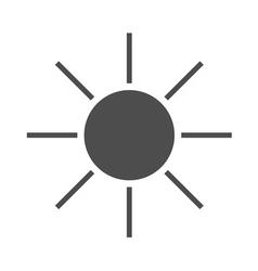 Sun icon black Symbol sunrise vector image vector image