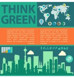 Think green with downtown and vector