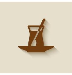 Turkish tea design element vector image vector image