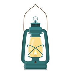 vintage camping lantern vector image