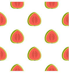 Watermelon pattern seamless vector
