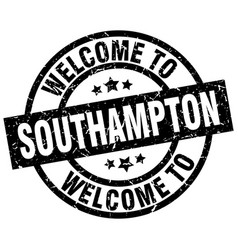 welcome to southampton black stamp vector image vector image
