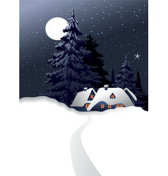 winter country landscape vector image