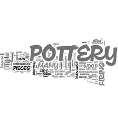 Wood fired pottery text word cloud concept vector