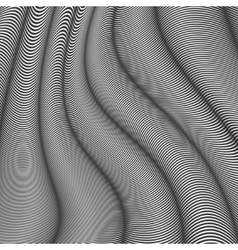 Mobious wave stripe Geometric line abstract vector image