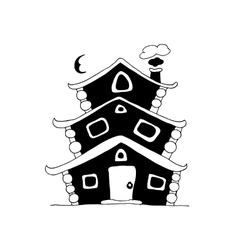 Fairy house sketch for your design vector