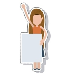 Person avatar protest isolated icon vector