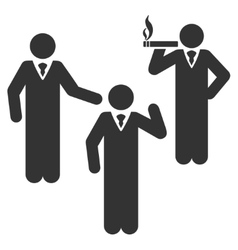 Discuss standing persons flat icon vector