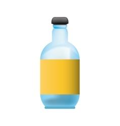 Isolated glass bottle vector