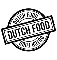 Dutch Food rubber stamp vector image
