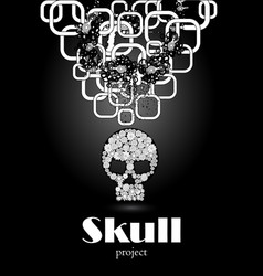 skull in floral style your concept design vector image