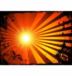 grunge starburst vector image