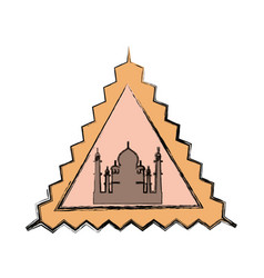 Taj mahal monument vector