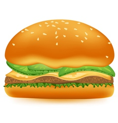 Hamburger on a white background vector