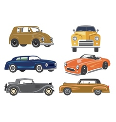 Vintage style retro cars vector