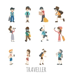 Traveler people  eps10 format vector