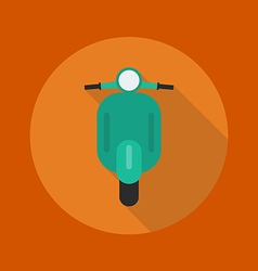 Transportation flat icon scooter motorcycle vector