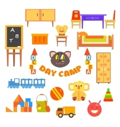 Kindergarten preschool set vector