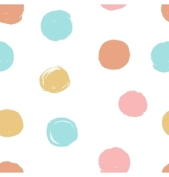 Cute hand drawn seamless dots patterns collection vector