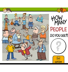 Counting people preschool game vector