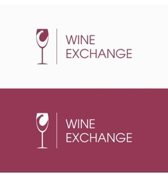 Logo wine and arrow vector image