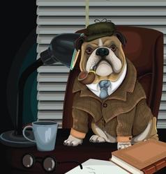 Bulldog detective vector