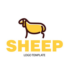 Color drawing of sheep vector