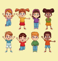 cute kids cartoon vector image vector image
