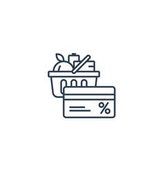 food basket grocery order shop special offer bonus vector image vector image