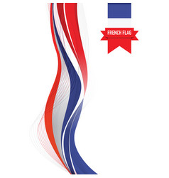 french flag background vector image vector image